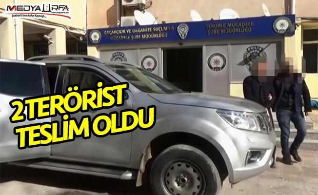 Akçakale'de 2 terörist teslim oldu