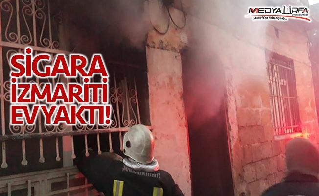 Eyyübiye'de sigara izmariti yüzünden ev yandı