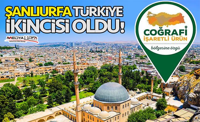 Şanlıurfa Türkiye ikincisi oldu!