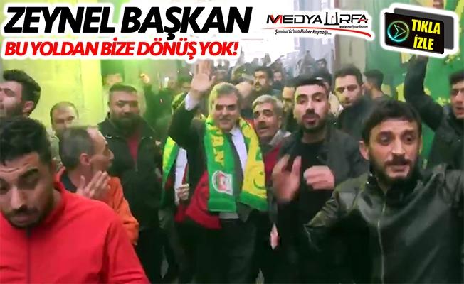 Urfaspor'lu taraftarlardan Beyazgül'e tam destek!
