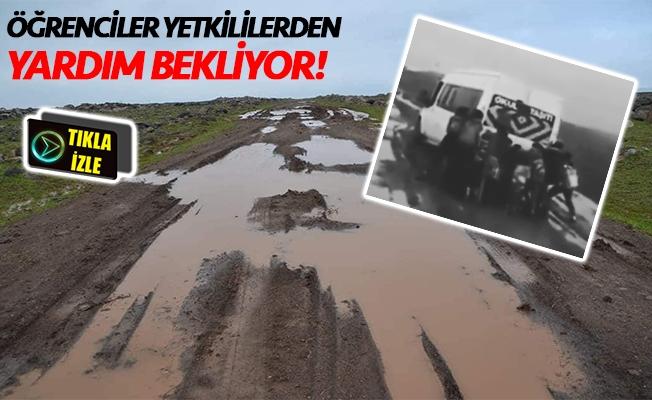 Viranşehir'de öğrencilerin zorlu okul yolculuğu