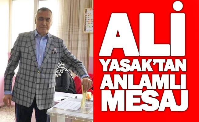 Ali Yasak oy kullandı