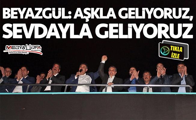 Beyazgül'e Eyyübiye'de destek mitingi!