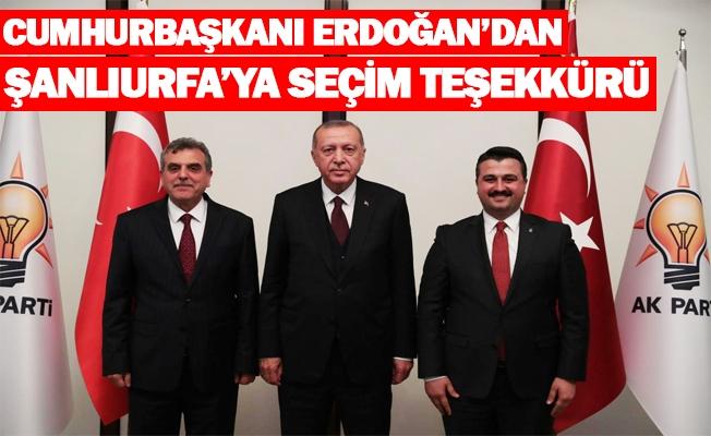 Erdoğan'dan Şanlıurfa'ya seçim teşekkürü