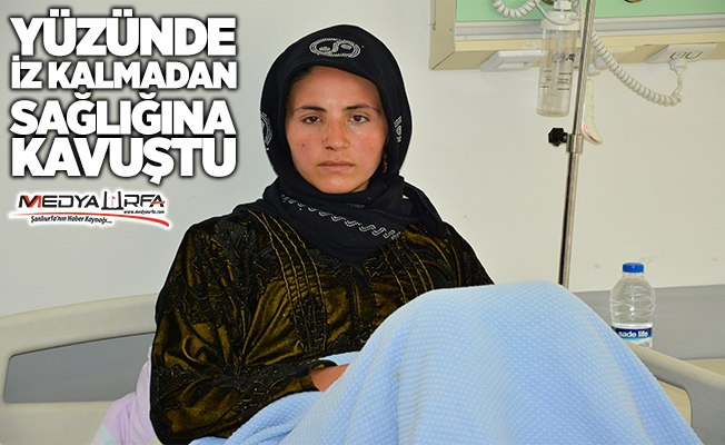 Genç kadın Siverek'te sağlığına kavuştu