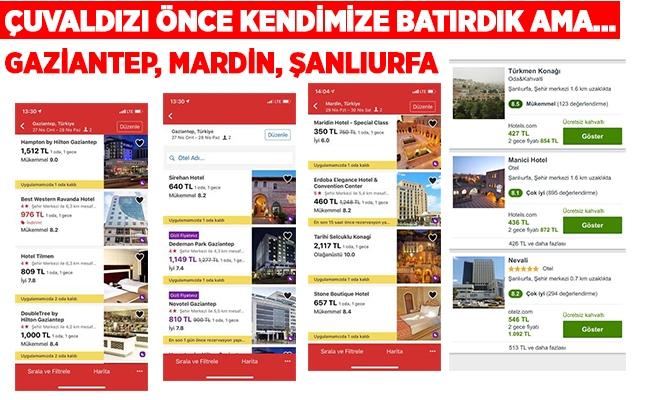 Şanlıurfa, Gaziantep ve Mardin'de otel fiyatları