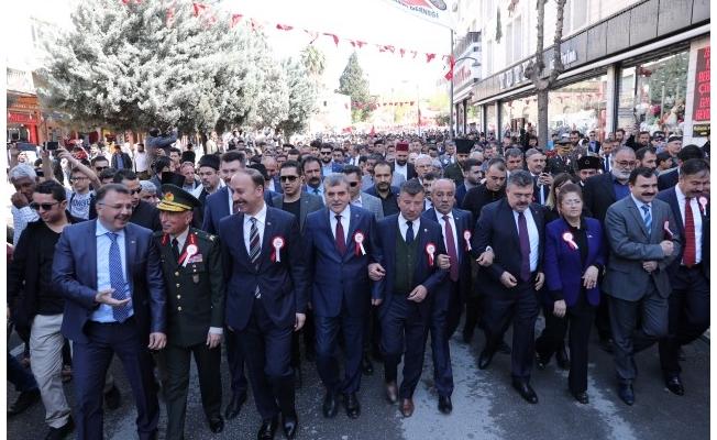 Urfa'da on binler tek yürek oldu
