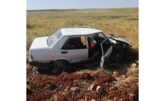 Birecik'te otomobil şarampole devrildi: 7 yaralı