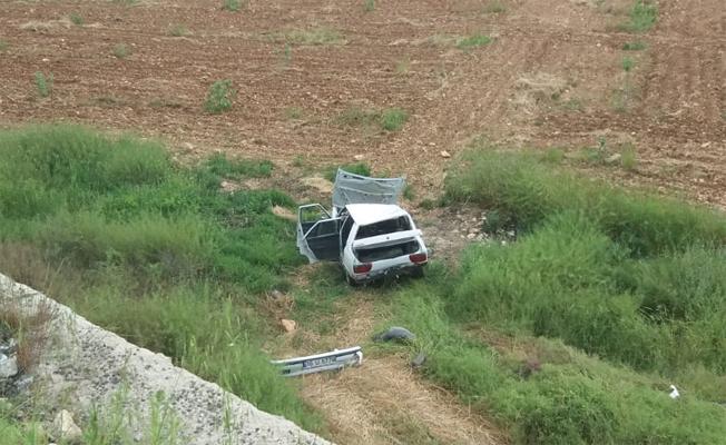 Bozova'da otomobil devrildi: 2 yaralı