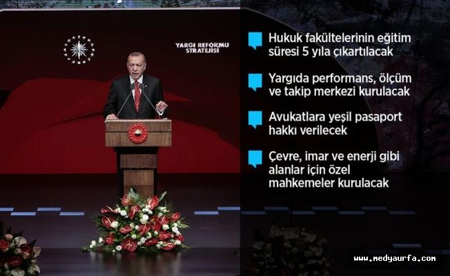 Erdoğan Yargı Reformu Stratejisi Belgesini açıkladı