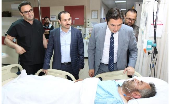 Sağlık Bakanlığı heyeti yaralıları ziyaret etti