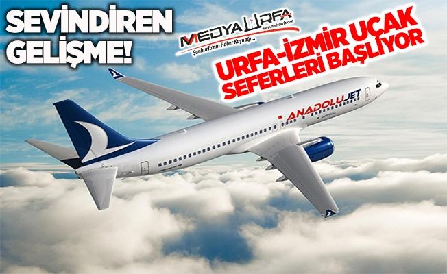 Şanlıurfa-İzmir Uçak Seferleri Başlıyor