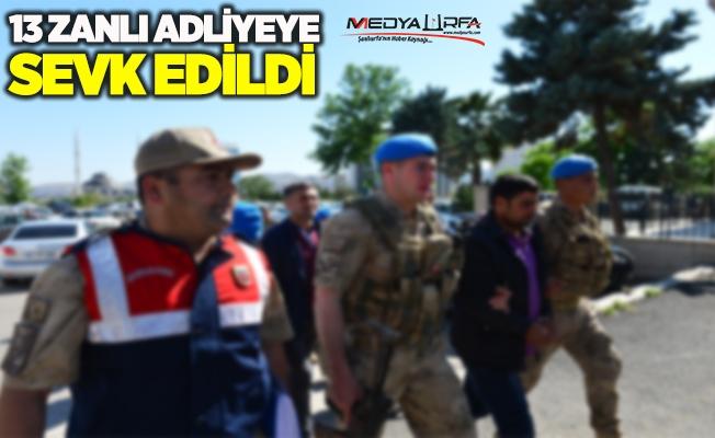 Viranşehir'deki terör zanlıları adliyeye sevk edildi