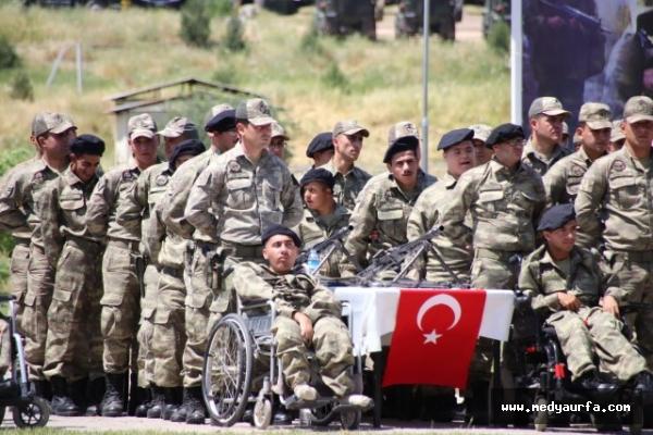 Viranşehir'de engellilerin askerlik sevinci
