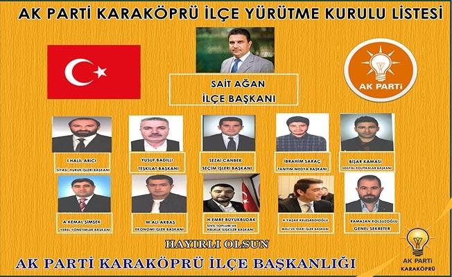 AK Parti Karaköprü Yürütme Kurulu Listesi açıklandı
