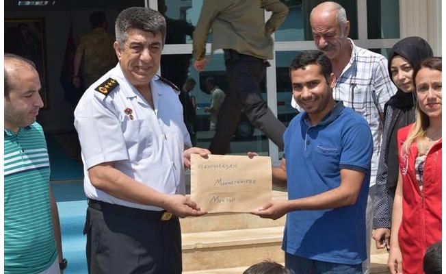 Gençler, Albay Kirişçi'i ziyaret ettiler