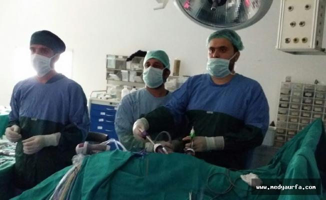 Siverek'te ilk kez Laparoskopik ameliyatı yapıldı!
