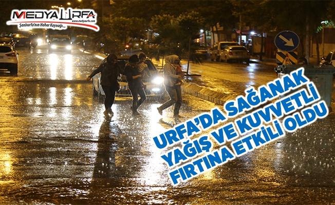 Urfa'da sağanak ve fırtına hayatı olumsuz etkiledi