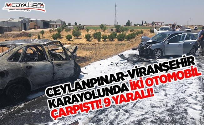 Viranşehir-Ceylanpınar yolunda kaza: 9 yaralı