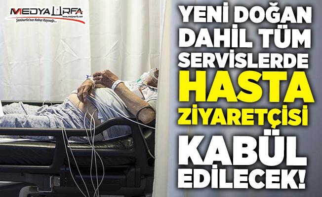 Yoğun bakımlarda hasta ziyareti artık serbest!