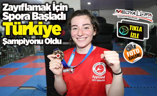 Zayıflamak için spora başladı Türkiye şampiyonu oldu