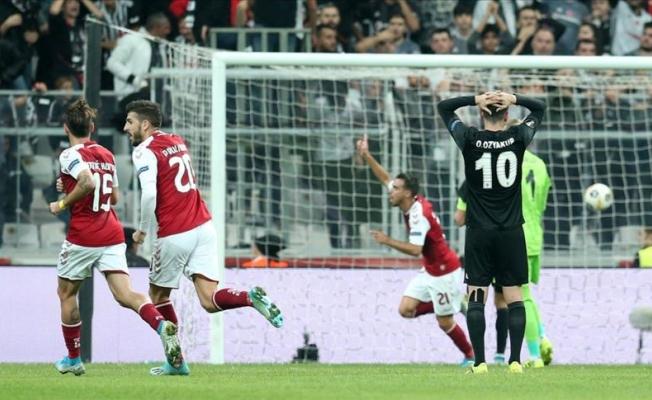 Beşiktaş, Braga'ya 2-1 yenildi.