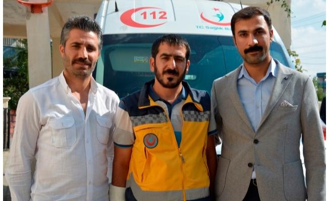 Duyarlı ambulans şoförüne teşekkür ziyareti