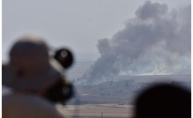 Terör mevzilerinden dumanlar yükseliyor
