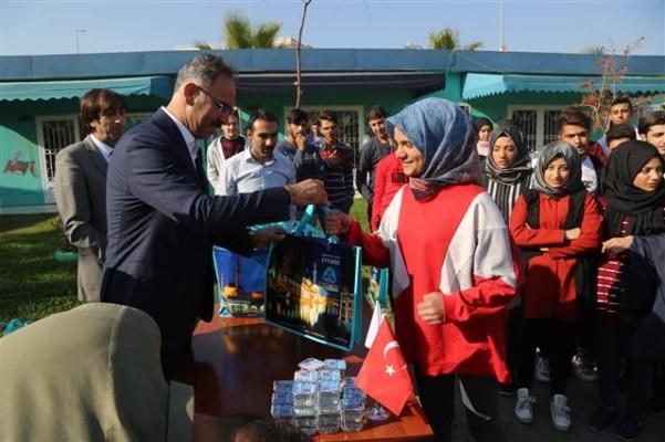 Başkan Kuş, eğitim desteğini sürdürüyor