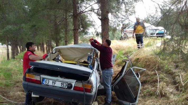 Ceylanpınar'da trafik kazası: 1 ölü, 2 yaralı