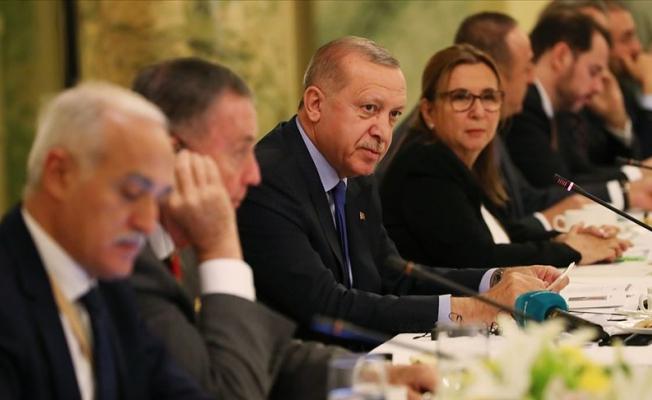 Erdoğan Yuvarlak Masa Toplantısı'na katıldı