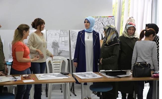 Haliliye Belediyesinde, Kadın Kursiyerlere Anlamlı Ziyaret