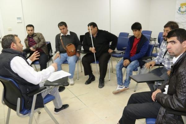 Haliliye'de görme engelliler için EKPSS kursu