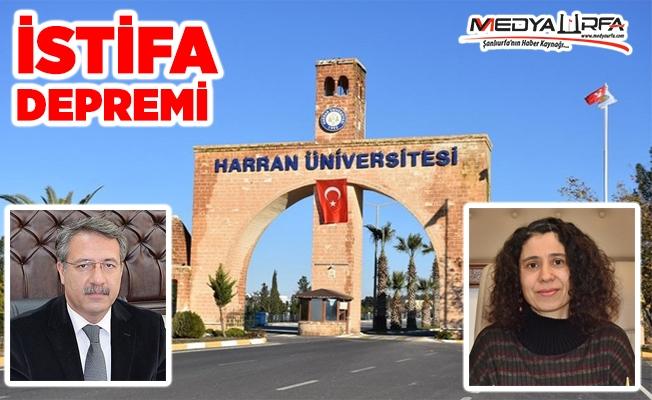 Haran Üniversitesinde istifa depremi