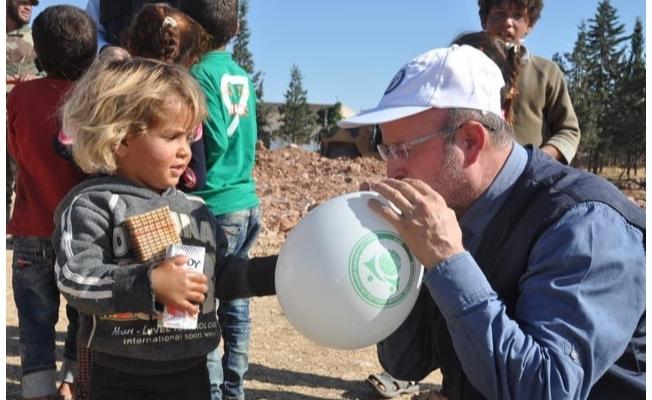 Urfa'dan Tel Abyad'da insani yardım