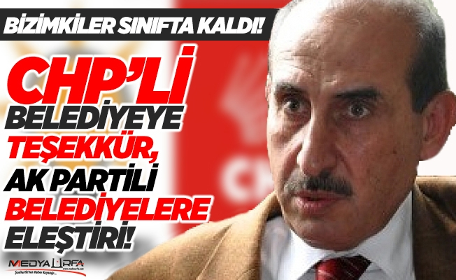 Yalçınkaya'dan AK Partili belediyelere eleştiri