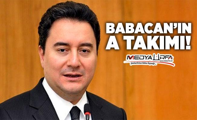 Ali Babacan'ın A-Takımı