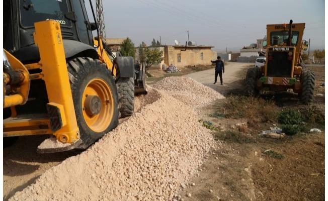 Haliliye kırsalında yol çalışmaları sürüyor