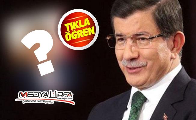 Urfa eski Valisi Davutoğlu'nun ekibinde!