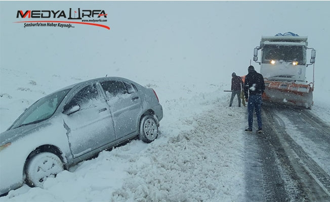 Viranşehir'de yoğun kar yağışı