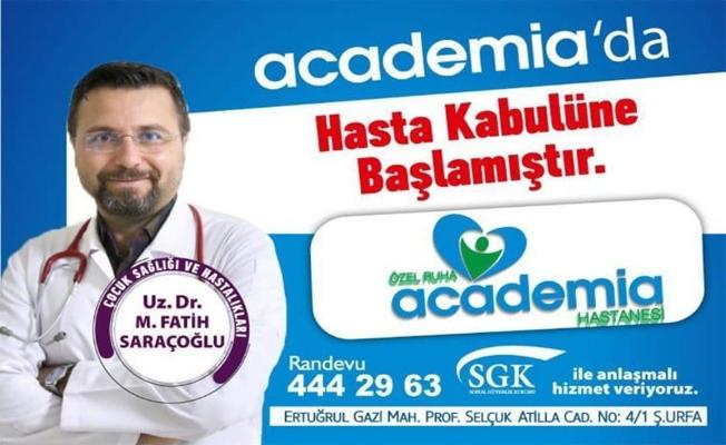Fatih Saraçoğlu hasta kabülüne başladı!
