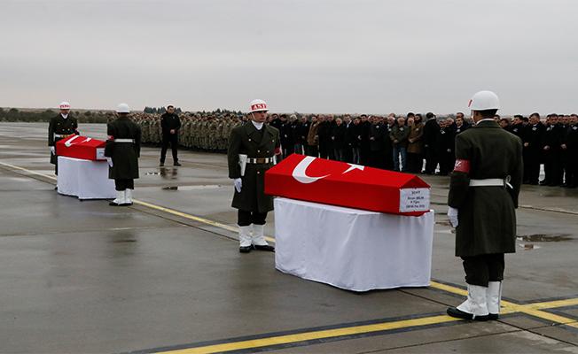 İki askerimizin cenazeleri memleketine uğurlandı