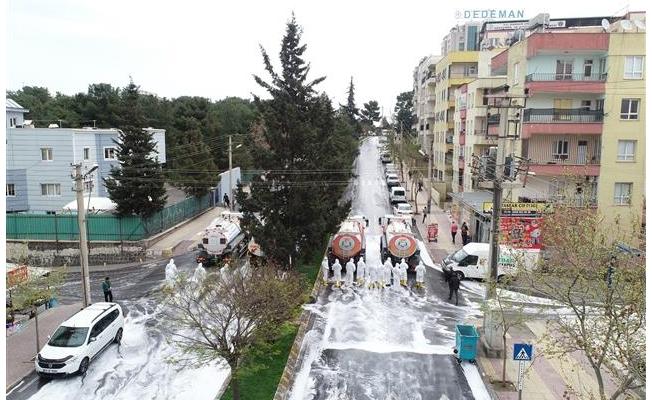 Hızmalı ve Şehitlik mahalleleri dezenfekte edildi