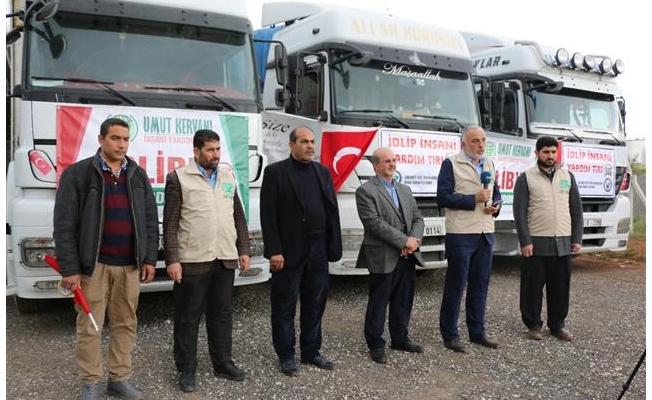 Şanlıurfa'dan İdlib'e 3 tır insani yardım gönderildi