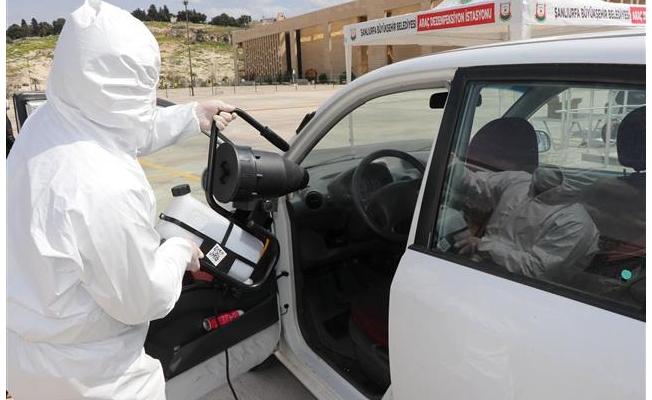 Urfa'da ikinci araz dezenfekte istasyonu kuruldu