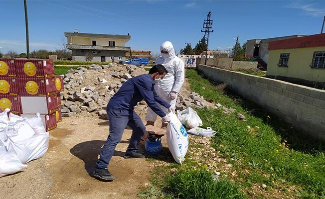 Urfa'da karantinadaki mahallenin ihtiyacı karşılanıyor