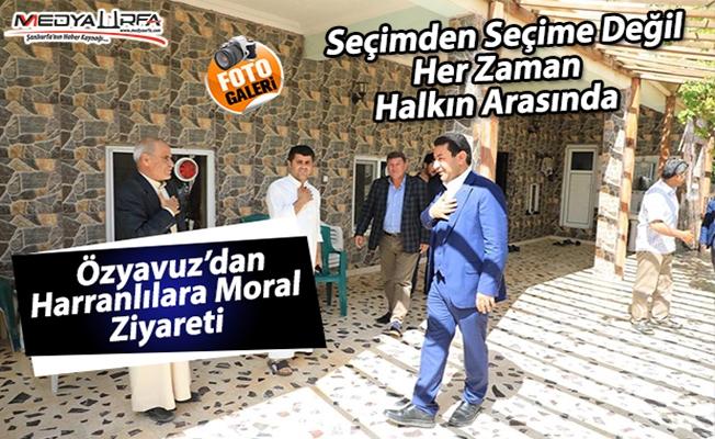Özyavuz'dan Harranlılara moral ziyareti