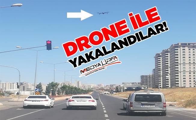 Şanlıurfa'da droneli trafik kontrolü