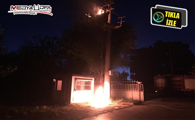 Siverek'te trafo yangını!