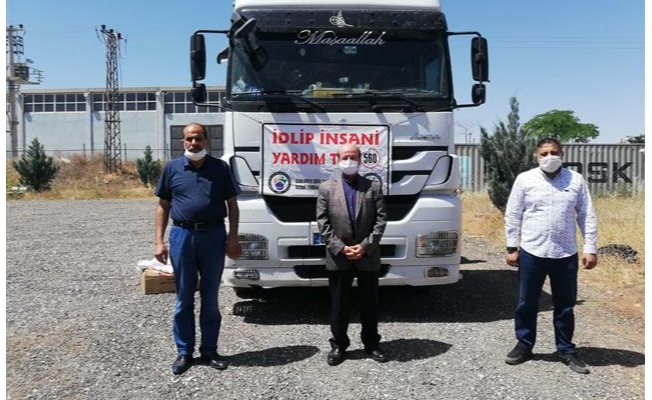 Urfa'dan Suriye'ye insani yardım malzemesi